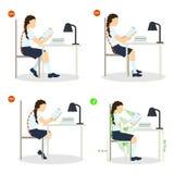 Insieme di posizione di seduta illustrazione vettoriale