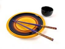 Insieme di pranzo asiatico Fotografie Stock