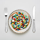 Insieme di pranzo medico Fotografie Stock