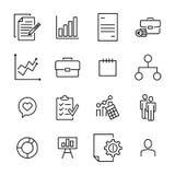Insieme di premio della linea icone della gestione Immagine Stock Libera da Diritti