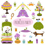 Insieme di principessa Party Fotografia Stock Libera da Diritti