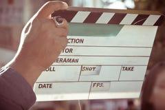 Insieme di produzione delle troupe cinematografica immagini stock libere da diritti