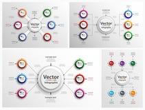 Insieme di progettazione astratta variopinta di Infographic Fotografie Stock