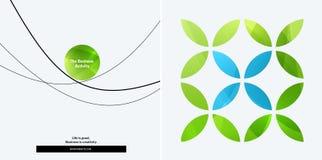 Insieme di progettazione astratta di vettore per il modello grafico Fondo moderno creativo di affari illustrazione vettoriale