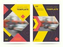 Insieme di progettazione contemporanea della copertura dell'estratto del rapporto annuale trendy royalty illustrazione gratis