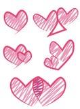 Insieme di progettazione del cuore di vettore illustrazione vettoriale