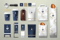 Insieme di progettazione del modello di identità corporativa del tostacaffè Fotografia Stock