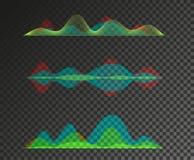 Insieme di progettazione dell'equalizzatore delle onde sonore Fotografia Stock
