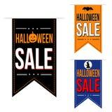 Insieme di progettazione dell'insegna di vendita di Halloween Fotografie Stock