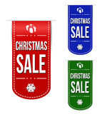 Insieme di progettazione dell'insegna di vendita di Natale Fotografia Stock