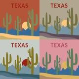 Insieme di progettazione della maglietta del Texas Fotografie Stock Libere da Diritti