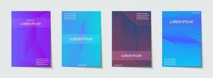 Insieme di progettazione delle coperture Modello astratto, minimo, geometrico illustrazione di stock