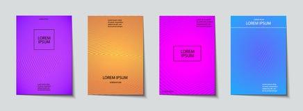 Insieme di progettazione delle coperture Modello astratto, minimo, geometrico royalty illustrazione gratis