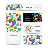 Insieme di progettazione di biglietti da visita creativa astratta illustrazione di stock