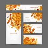 Insieme di progettazione di biglietti da visita creativa, astratto Fotografie Stock