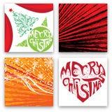 Insieme di progettazione di cartolina di Natale Fotografie Stock Libere da Diritti
