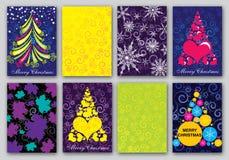 Insieme di progettazione di cartolina di Natale Immagine Stock Libera da Diritti