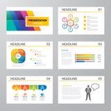 Insieme di progettazione piana del modello infographic di presentazione illustrazione di stock
