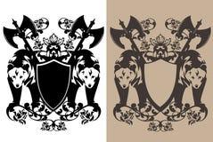 Insieme di progettazione di vettore dell'araldica degli orsi del guardiano royalty illustrazione gratis