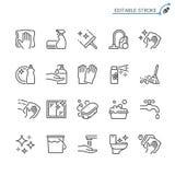 Insieme di pulizia dell'icona del profilo illustrazione di stock