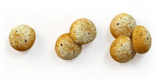 Insieme di recente al forno del pane delle olive Immagine Stock Libera da Diritti