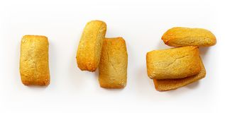 Insieme di recente al forno del pane isolato Fotografia Stock
