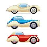 Insieme di retro automobili illustrazione di stock