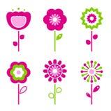 Insieme di retro elementi del fiore per pasqua/sorgente Fotografia Stock Libera da Diritti