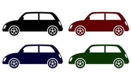 Insieme di retro icone delle automobili Fotografia Stock