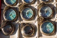 Insieme di retro orologi da tasca del classico di stile Fotografia Stock Libera da Diritti