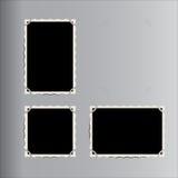 Insieme di retro telai della foto di vettore disposti in album di foto d'annata Fotografie Stock Libere da Diritti