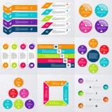 Insieme di riserva di vettore del infographics Immagini Stock Libere da Diritti