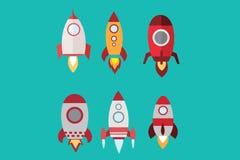 Insieme di Rocket Immagine Stock
