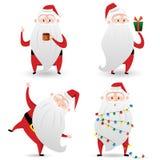 Insieme di Santa Claus dell'illustrazione di vettore per progettazione Immagini Stock