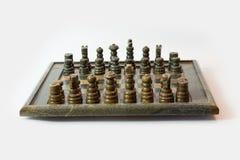 Insieme di scacchi di pietra Immagini Stock Libere da Diritti