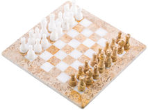 Insieme di scacchi di pietra II fotografie stock libere da diritti