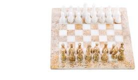 Insieme di scacchi di pietra III immagine stock libera da diritti
