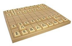 Insieme di scacchi giapponese (Shogi) Fotografia Stock