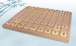 Insieme di scacchi giapponese (Shogi) Fotografia Stock Libera da Diritti