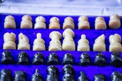 Insieme di scacchi indiano Immagini Stock