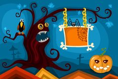 Insieme di scheda di Hallowen royalty illustrazione gratis