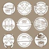 Insieme di schizzo dei logotypes degli strumenti illustrazione di stock