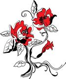 Insieme di schizzo del fiore Immagine Stock Libera da Diritti