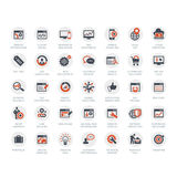 Insieme di SEO e delle icone di sviluppo Immagini Stock