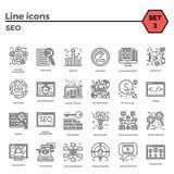 Insieme di SEO Icon Immagini Stock