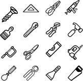 Insieme di serie dell'icona dello strumento Immagine Stock Libera da Diritti