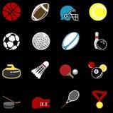 Insieme di serie dell'icona di sport Fotografia Stock