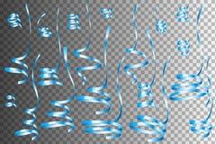 Insieme di Serpentine Ribbons variopinta realistica Fotografia Stock