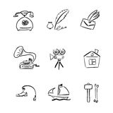 Insieme di simboli Immagine Stock