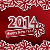 Insieme di simboli del nuovo anno 2014 Fotografie Stock